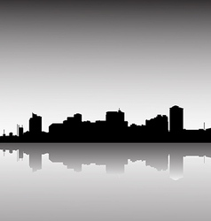 city skyline dusk vector image