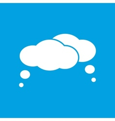 Clouds white icon vector