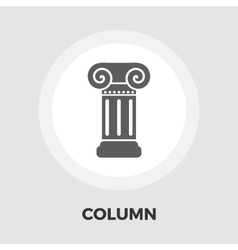 Column flat icon vector