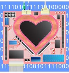 Computer heart vector