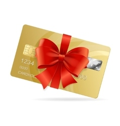 Credit Card Present vector image vector image
