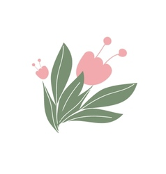 Cute floral bouquets and wreaths vector image