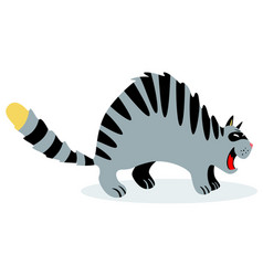 cute funny cartoon cat with feline vector image vector image