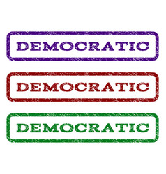 Democratic watermark stamp vector