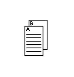 exam icon vector image