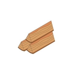 Firewood isometric icon vector image