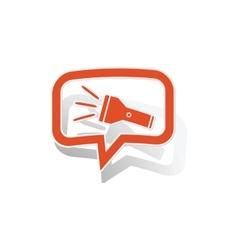 Flashlight message sticker orange vector
