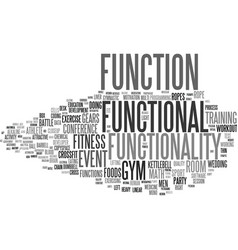 Functionality word cloud concept vector