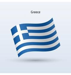 Greece flag waving form vector image
