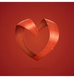 Heart ribbon vector