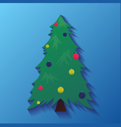 icons with christmas tree with decorations for vector image vector image