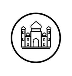 islamic icon mosque icon- iconic design vector image vector image