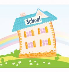 little schoolhouse vector image