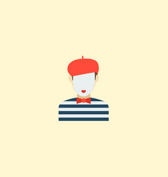 Mime icon flat element of vector