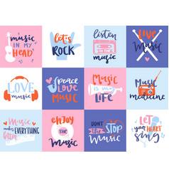 music love motivation lables badges karaoke vector image vector image