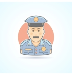 Police officer icon Avatar and person vector image vector image