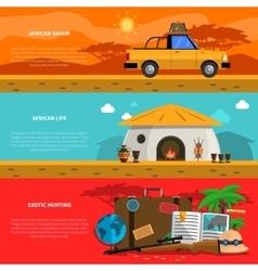 Safari banner set vector