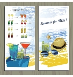 set hand drawn booklet for Cocktail party vector image vector image
