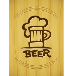 Sign of mug with beer vector
