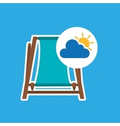 Summer vacation design beach chair icon vector
