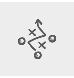 Tic-tac-toe sketch icon vector