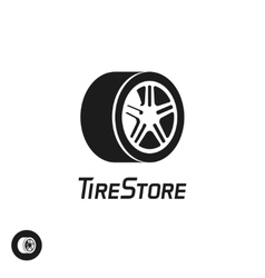 Tire store logo template isolated on white vector image