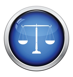 Justice scale icon vector