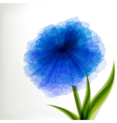 Blue transparent flower vector