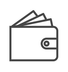 wallet thin line icon vector image