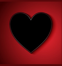 valentines day background with heart design vector image