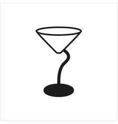 Empty transparent martini glass cup icon vector
