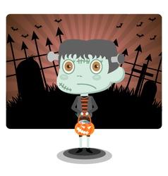 Frankenstein with halloween vector