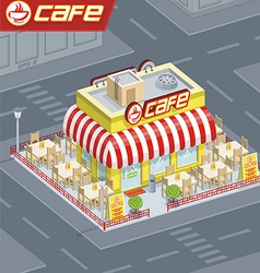 Facade cafe vector