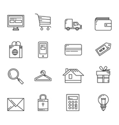 Shopping basic icons vector