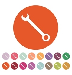 The wrench icon settings symbol flat vector
