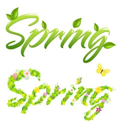 2 spring words vector
