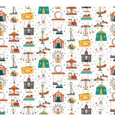 Funfair Fair Amusement Park Seamless Pattern vector image