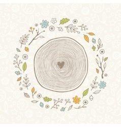 drawn vintage forest frame vector image