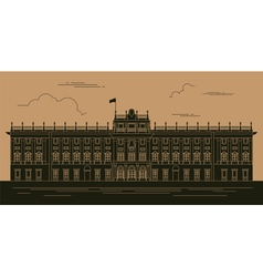 City buildings graphic template royal palace vector