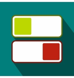 Green and red button icon flat style vector