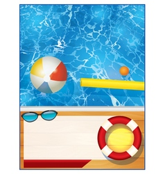 Swimming pool background template vector