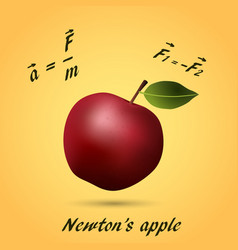 Apple made of equations and formula vector