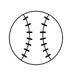 baseball sport ball equipment icon vector image