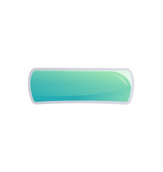 blue interface window in cartoon style vector image vector image