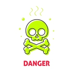 Chemical hazard caution sign waste danger safety vector image