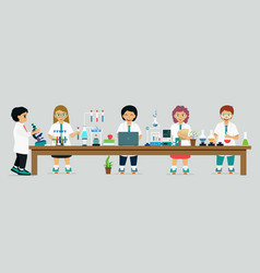 children scientist vector image