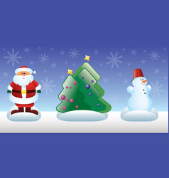 Christmas and new year toys vector