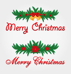 christmas decoration merry christmas vector image