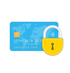 Credit card and lock vector