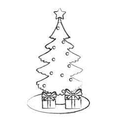 cute christmas tree vector image